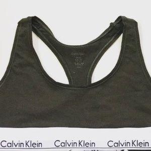 Calvin Klein Modern Cotton Bralette Green - NWOT